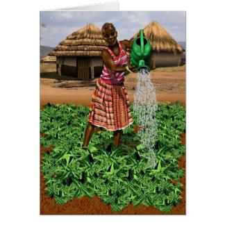 Cartão Vida africana da vila