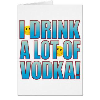 Cartão Vida B da vodca da bebida