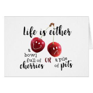 Cartão VIDA--Cerejas ou poços