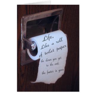 Cartão Vida, como um rolo de papel higiénico