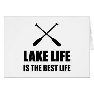 Cartão Vida da vida do lago a melhor