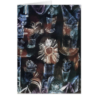 Cartão Vida de Paul Klee- ainda com flor do cardo