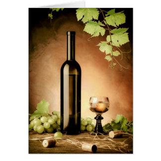 Cartão Vida do vinho branco ainda