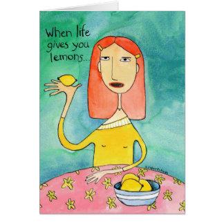 Cartão Vida e limões