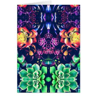 Cartão Vida vegetal abstrata