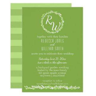 Cartão Videira Wedding rústica das hortaliças | 5 x 7