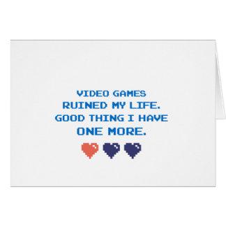 CARTÃO VIDEO GAMES