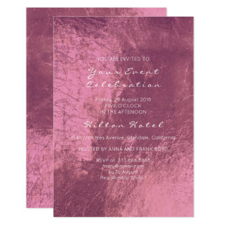 Cartão Vidro cor-de-rosa de Borgonha do rosa metálico