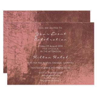 Cartão Vidro cor-de-rosa do ouro do cobre metálico mínimo