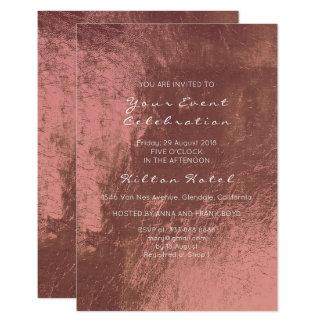 Cartão Vidro cor-de-rosa profundo de cobre metálico