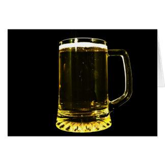 Cartão Vidro de cerveja