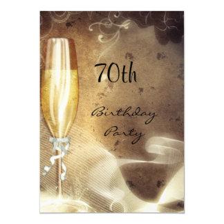 Cartão vidro de Champagne do Sepia do 70