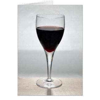 Cartão Vidro do vinho tinto