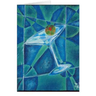 Cartão Vidro geométrico de Martini