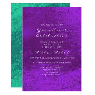 Cartão Vidro metálico mínimo do roxo do verde esmeralda