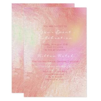 Cartão Vidro metálico perolado do Pastel do rosa do rosa