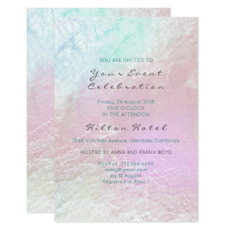 Cartão Vidro Pastel roxo cor-de-rosa metálico perolado de