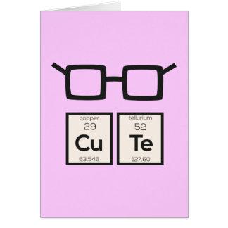 Cartão Vidros bonitos Zwp34 do nerd do elemento químico