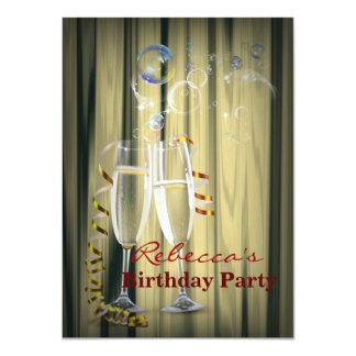 Cartão vidros gatsby elegantes de Champagne dos anos 20