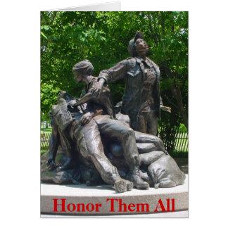 Cartão Vietnam nutre o memorial