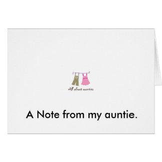 Cartão viewlogo.aspx, uma nota de meu auntie.