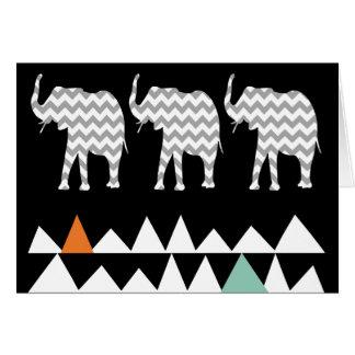 Cartão Vigas astecas dos ziguezagues de Andes da arte