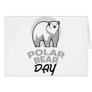 Cartão Vigésimo sétimo fevereiro - dia do urso polar