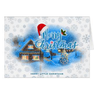 Cartão Vila mágica do Natal