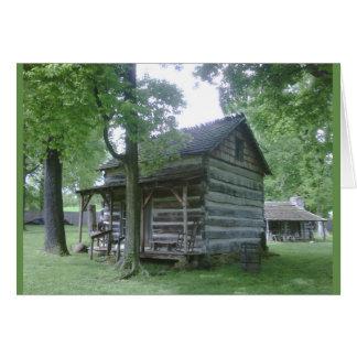 Cartão Vila pioneira de Lincoln, Rockport, Indiana