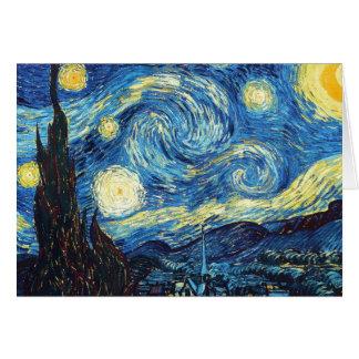 Cartão Vincent van Gogh - noite estrelado