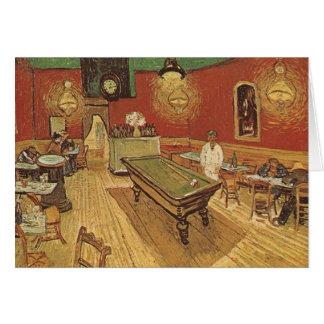 Cartão Vincent van Gogh o café da noite