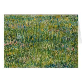 Cartão Vincent van Gogh - remendo da grama
