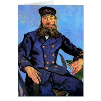 Cartão Vincent van Gogh - retrato do carteiro