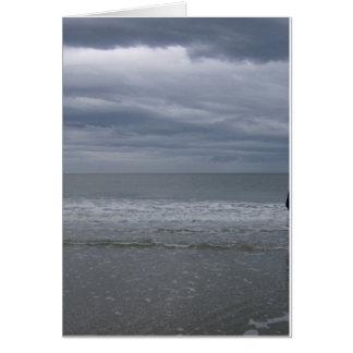 Cartão Vinda tormentoso dos mares