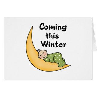 Cartão Vindo este inverno