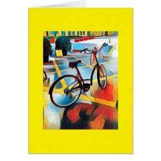 Cartão Vinheta deliciosa da bicicleta