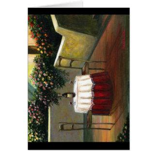 Cartão Vinho do por do sol