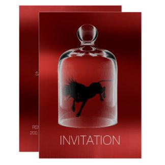 Cartão Vinho do rubi do partido da noite dos cavalheiros