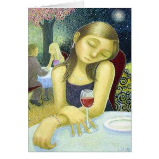 Cartão Vinho tinto - por Lora Shelley