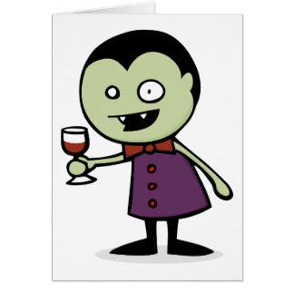 Cartão Vino do vampiro