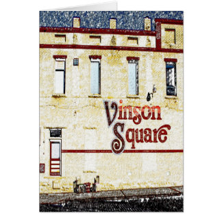Cartão Vinson Rogers quadrado AR
