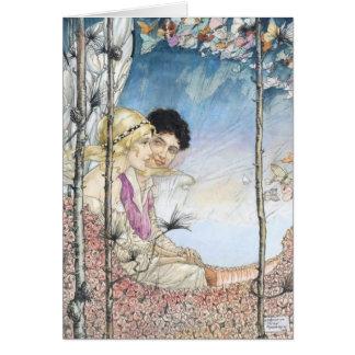 Cartão Vintage - amor angélico,