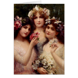 Cartão Vintage - as três benevolências,