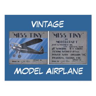 Cartão - vintage, avião modelo cartão postal