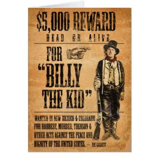 Cartão Vintage Billy o miúdo