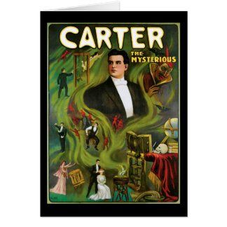 Cartão Vintage Carter o poster mágico misterioso
