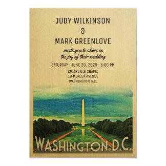 Cartão Vintage da C.C. de Washington C.C. Casamento