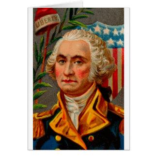 Cartão Vintage de George Washington