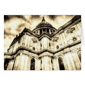 Cartão Vintage de Londres da catedral de St Paul