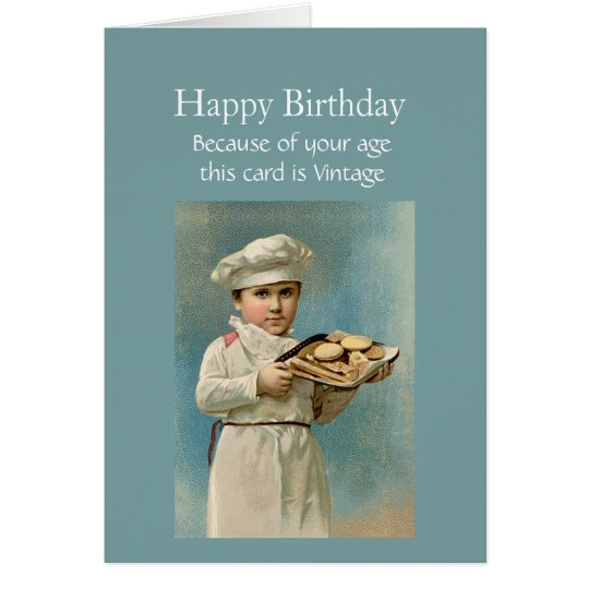 Cartão Vintage do feliz aniversario porque eu gosto de